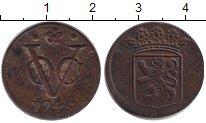 Изображение Монеты Нидерландская Индия 1 дьюит 0 Медь VF