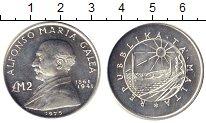Изображение Мелочь Мальта 2 фунта 1975 Серебро UNC- Альфонсо Мария Галея