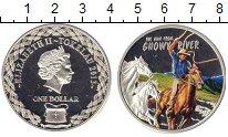 Изображение Подарочные монеты Токелау 1 доллар 2013 Серебро Proof Человек со снежной р