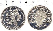 Изображение Монеты Нидерланды 25 экю 1995 Серебро UNC-