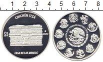 Изображение Монеты Мексика 5 песо 2007 Серебро Proof Герб Мексики в окруж