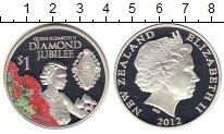 Изображение Монеты Новая Зеландия 1 доллар 2012 Серебро Proof-