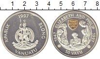 Изображение Монеты Вануату 50 вату 1997 Серебро Proof-
