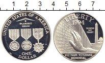 Изображение Монеты США 1 доллар 1994 Серебро UNC- 3 медали - мемориал