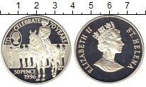 Изображение Монеты Остров Святой Елены 50 пенсов 1996 Серебро Proof Празднование 70-лети