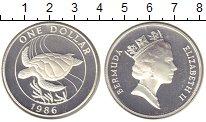 Изображение Монеты Бермудские острова 1 доллар 1986 Серебро Proof-