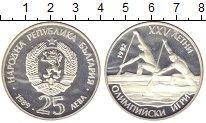 Изображение Монеты Болгария 25 лев 1989 Серебро Proof- XXV Летние Олимпийск