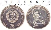 Изображение Монеты Болгария 25 лев 1989 Серебро Proof- XVI Зимние Олимпийск
