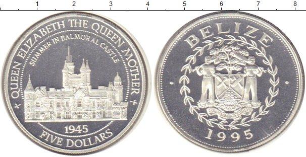 Картинка Монеты Белиз 5 долларов Серебро 1995