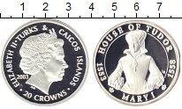Изображение Монеты Теркc и Кайкос 20 крон 2003 Серебро Proof