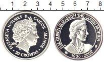 Изображение Монеты Теркc и Кайкос 20 крон 2002 Серебро