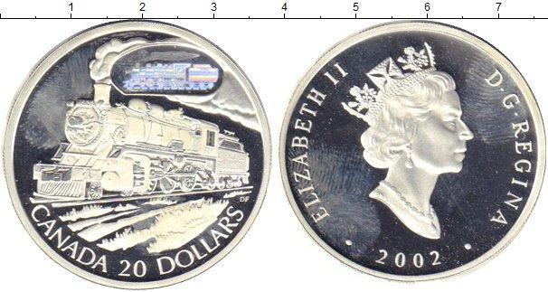 Картинка Монеты Канада 20 долларов Серебро 2002