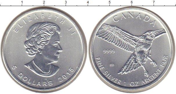 Картинка Мелочь Канада 5 долларов Серебро 2015