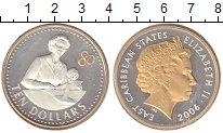 Изображение Монеты Карибы 10 долларов 2006 Серебро Proof-