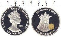 Изображение Монеты Карибы 10 долларов 2002 Серебро Proof Короли: Эдвард III