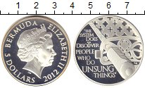 Изображение Монеты Бермудские острова 5 долларов 2012 Серебро Proof- Елизавета II.Эфес са