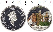 Изображение Монеты Ниуэ 1 доллар 2012 Серебро Proof- Елизавета II. Битва