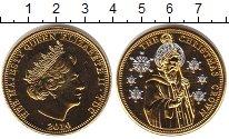 Изображение Монеты Тристан-да-Кунья 1 крона 2010  UNC Рождество (позолота)