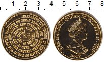 Изображение Монеты Тристан-да-Кунья 5 фунтов 2008  Proof Титулы королевы Елиз