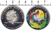 Изображение Монеты Ниуэ 1 доллар 2007 Серебро Proof Луна