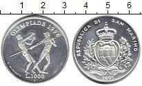 Изображение Монеты Сан-Марино 1000 лир 1995 Серебро Proof-