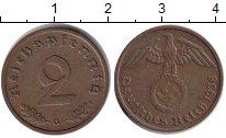 Изображение Монеты Третий Рейх 2 пфеннига 1938 Медь XF G