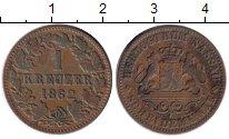Изображение Монеты Нассау 1 крейцер 1862 Медь VF