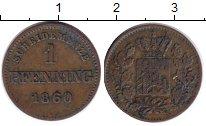 Изображение Монеты Бавария 1 пфенниг 1860 Медь XF
