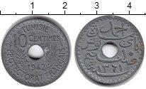 Изображение Монеты Тунис 10 сантимов 1942 Цинк XF