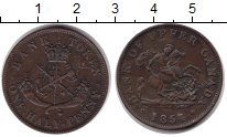 Изображение Монеты Канада 1/2 пенни 1854 Медь XF токен
