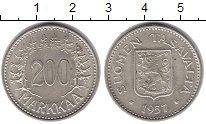 Изображение Монеты Финляндия 200 марок 1957 Серебро UNC- Н