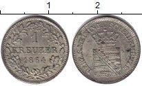 Изображение Монеты Саксен-Майнинген 1 крейцер 1864 Серебро XF