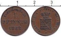 Изображение Монеты Саксен-Майнинген 1 пфенниг 1868 Медь XF