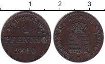 Изображение Монеты Саксен-Майнинген 1 пфенниг 1860 Медь VF