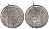 Изображение Монеты Гессен-Дармштадт 1 крейцер 1870 Серебро UNC-