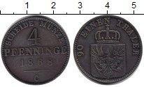 Изображение Монеты Пруссия 4 пфеннига 1868 Медь VF