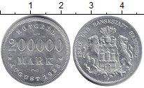 Изображение Монеты Гамбург 200000 марок 1923 Алюминий UNC-