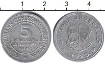 Изображение Монеты Шлезвиг-Гольштейн 5/100 марок 1923 Алюминий VF