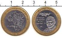 Изображение Монеты Центральная Африка 4500 франков 2007 Биметалл XF голова слона на фоне