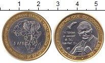Изображение Монеты Конго 4500 франков 2007 Биметалл XF