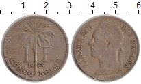 Изображение Монеты Бельгийское Конго 1 франк 1925 Медно-никель XF