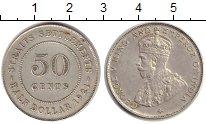 Изображение Монеты Стрейтс-Сеттльмент 50 центов 1921 Серебро XF