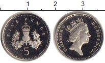 Изображение Монеты Великобритания 5 пенсов 1990 Медь VF