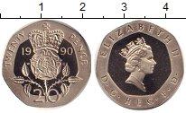 Изображение Монеты Великобритания 20 пенсов 1990 Медно-никель Proof-