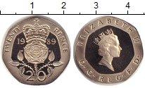 Изображение Монеты Великобритания 20 пенсов 1989 Медно-никель Proof-