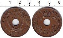 Изображение Монеты Восточная Африка 10 центов 1941 Медь XF