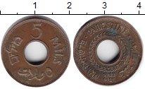 Изображение Монеты Палестина 5 милс 1942 Медь XF
