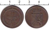Изображение Монеты Баден 1 крейцер 1808 Медь XF Карл Фридрих