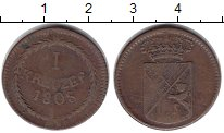 Изображение Монеты Баден 1 крейцер 1808 Медь XF