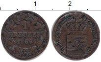Изображение Монеты Саксен-Майнинген 1 крейцер 1866 Серебро VF